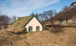 Turf church at Hof in Iceland Royalty Free Stock Images