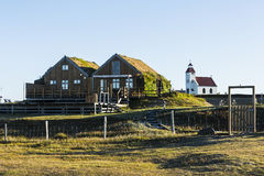 Turf covered house at Modrudalur, Iceland Stock Image