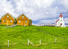 Turf covered houses at Modrudalur, North Iceland Stock Images