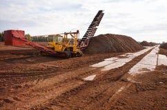 Turf extraction field Stock Photo