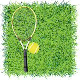 Tennis. Turf for the game of tennis. Vector illustration Stock Photos