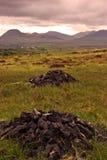 Turf Harvesting. In Connemara, Co.Galway, Ireland Royalty Free Stock Photos