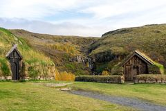 Turf home in Icelande Stock Photography