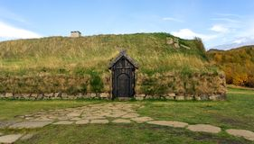 Turf home in Icelande Royalty Free Stock Photos