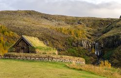 Turf home in Icelande Stock Photos