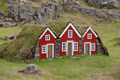 Turf house for elf in Iceland. Stock Images