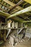 Turf House Interior. The interior of a turf house where work was done Royalty Free Stock Image