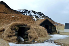 Turf House Setting in Iceland royalty free stock photography