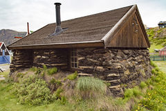 Turf house, Sisimiut, Greenland Royalty Free Stock Photography