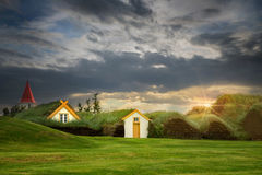 Turf houses Stock Photography