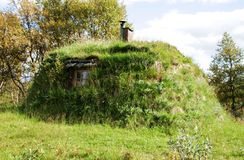 Turf hut. Traditional turf hut  in Norway Royalty Free Stock Photo