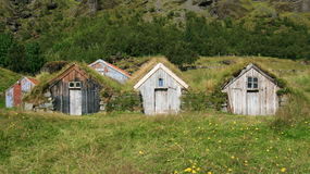 Turf huts in Iceland Royalty Free Stock Image