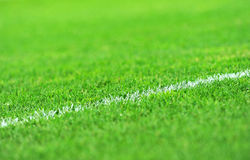 Turf Soccer Field Stock Image