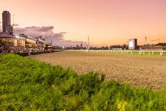 Turf track. Stadium horse racing Stock Image