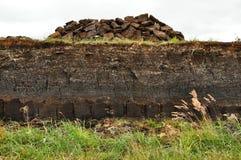 Turfa horizontal que escava em Harris, Scotland Foto de Stock