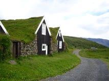 Turfhouses, parc national de Skaftafell, Islande Photos libres de droits