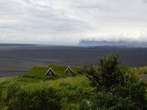 Turfhouses, parque nacional de Skaftafell, Islandia Imagen de archivo libre de regalías