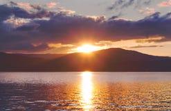 Turgoyak-Sonnenuntergang Stockfotografie