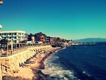 Turgutreis Boardwalk. Taked by Nexus 4 camera Royalty Free Stock Photos