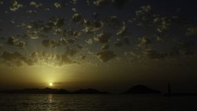 Turgutreis solnedgång stock video