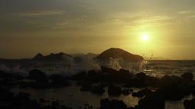 Turgutreis solnedgångtimelapse lager videofilmer