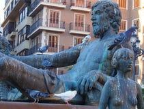 Turia Fountain, Plaza DE La Virgen, Valencia Royalty-vrije Stock Foto's