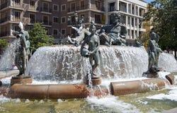 Turia Fountain Valencia Stock Photos