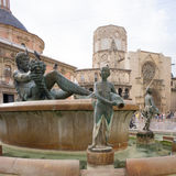 Turia Fountain stock photo