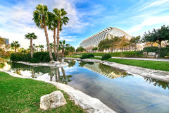 Turia Gardens Valencia Spain stockbilder