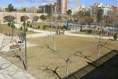 Turia Park in Valencia. Spain Royalty Free Stock Photography