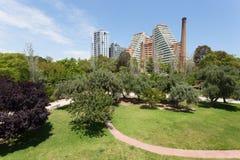 Turiapark in Valencia, Spanje Stock Fotografie