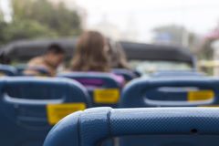 Turibus. Tour bus seats in lima peru Stock Photos