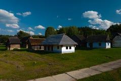 从Turiec的村庄-斯洛伐克村庄的博物馆, JahodnÃcke hà ¡ je,马丁,斯洛伐克 图库摄影