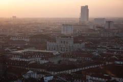 Turijn bij zonsondergang Royalty-vrije Stock Afbeeldingen