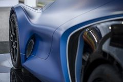 TURIJN, ITALIË - 9 JUNI, 2016_A Quattroruote & IED Torino_Concept Car_Syrma op vertoning bij de openluchtauto van Turijn tonen Royalty-vrije Stock Afbeeldingen