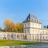 Turijn, Piemonte, Italië, 01 November 2017 Valentino Castle, Turi Royalty-vrije Stock Fotografie