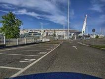 Turijn, Piemonte, Itali? April 2019 Genomen foto de middag van het Allianz-Stadion stock foto's