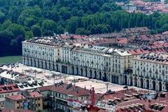 Turijn Vittorio Veneto Square royalty-vrije stock foto's