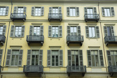 Turin. Vintage traditional housing in Turin (Torino), Italy Royalty Free Stock Photos