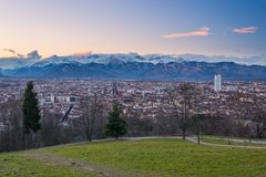 Turin from above, different perspective Royalty Free Stock Image