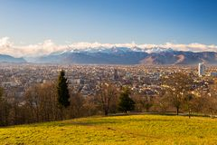 Turin from above, different perspective Stock Images