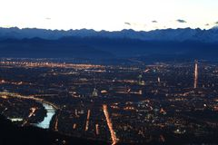 Turin aerial view royalty free stock photography