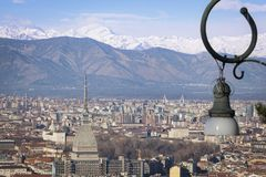 Turin Alps Skyline royalty free stock images