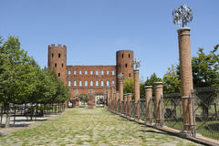 Turin ancient Roman gates Stock Photography