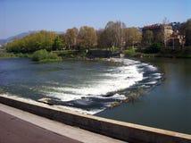 Turin, Ansicht des Pos stockbilder