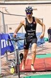 12th upplaga av Turin stadstrofén av triathlonen Arkivfoton