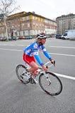 12th upplaga av den Turins stadstrofén av triathlonen Arkivfoto