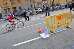 12th upplaga av Turin stadstrofén av triathlonen Arkivfoto