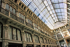 Turin arcade. A view of the Subalpina Galleria in Turin.-Italy stock photos
