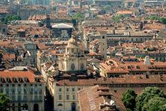 Turin auf von der Höhe stockfotografie